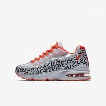 Nike Air Max 95 Lifestyle Shoes Boys White/Black/Light Red/White AD9404HD