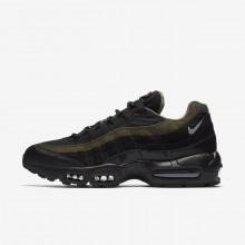 Nike Air Max 95 Lifestyle Shoes Mens Black/Khaki/Silver/Black AF1666AN