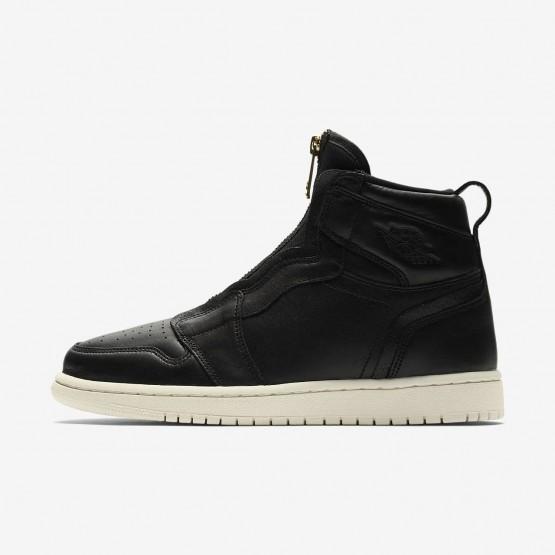 Air Jordan 1 High Zip Lifestyle Shoes Womens Black/Red AG1892LU