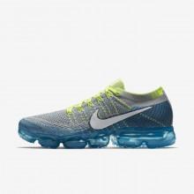 Nike Air VaporMax Flyknit Running Shoes Mens Grey/Blue/White AH9086YT