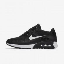 Nike Air Max 90 Lifestyle Shoes Womens Black/Dark Grey/White AI1689NS