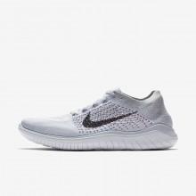 Nike Free RN Flyknit Running Shoes Mens Platinum/White/Grey/Black AX8406PM