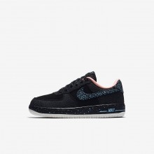 Nike Air Force 1 Lifestyle Shoes Boys Black/Red/White BH2953XR