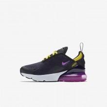 Nike Air Max 270 Lifestyle Shoes Boys Black/Yellow BI1298SF