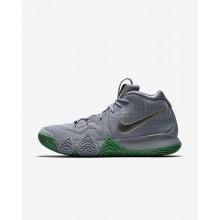 Nike Kyrie 4 Basketball Shoes Mens Silver/Metallic Gold/Silver BJ1244PZ