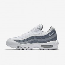Nike Air Max 95 Lifestyle Shoes Mens White/Grey/White BW5758ZD