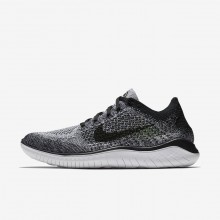 Nike Free RN Flyknit Running Shoes Mens White/Black CE8149UP