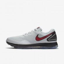 Nike Zoom Running Shoes Mens Platinum/Black/Red CI9205LF