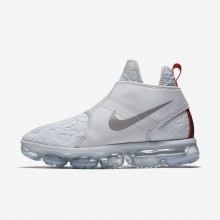 Nike Air VaporMax Lifestyle Shoes Mens Platinum/White/Orange/Silver CM9577HG