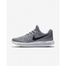 Nike LunarEpic Low Flyknit 2 Running Shoes Womens Grey/Platinum/Black CU8290OS