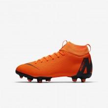Nike Jr. Superfly VI Academy MG Soccer Cleats Boys Orange/White CV2271DZ