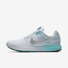 Nike Air Zoom Running Shoes Womens White/Blue/Metallic Silver CW2510KQ