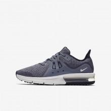Nike Air Max Sequent 3 Running Shoes Boys Obsidian/Dark Obsidian/White/Metallic Dark Grey DF2978PF