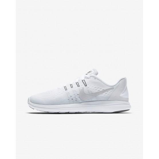 Nike Flex 2017 RN Running Shoes Womens White/Platinum/Grey/Metallic Silver DX8785NK