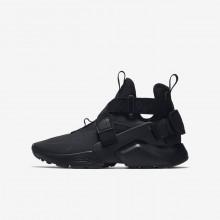 Nike Huarache Lifestyle Shoes For Boys Black/White/Black EB1087QV
