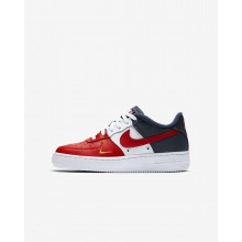 Nike Air Force 1 Lifestyle Shoes Boys Red/Navy/Gold/Red EO2130SJ