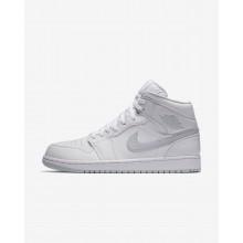 Air Jordan 1 Mid Lifestyle Shoes Mens White/Platinum ET9619BR