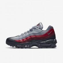 Nike Air Max 95 Lifestyle Shoes Mens Dark Grey/Red/Grey EV5153AO