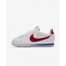 Nike Classic Cortez Lifestyle Shoes For Women White/Royal/Red FA1889MC