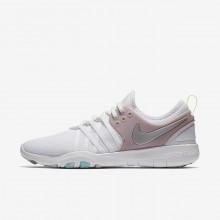 Nike Free TR Training Shoes Womens White/Rose/Metallic Silver FJ6687RX