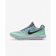 Nike LunarEpic Low Flyknit 2 Running Shoes Womens Blue/Green/Dark Obsidian FN8306TN
