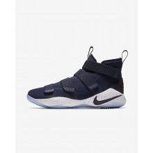 Nike LeBron Soldier XI Basketball Shoes Womens Navy/White/Red/Navy FP8858YU