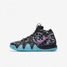 Nike Kyrie 4 Basketball Shoes Boys Black/White FQ5752DK