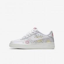 Nike Air Force 1 Lifestyle Shoes Boys White/Red/Green/White GA9544NR