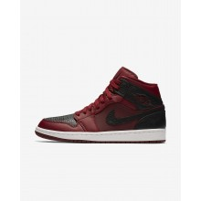 Air Jordan 1 Mid Lifestyle Shoes Mens Red/White/Red GS8105BJ