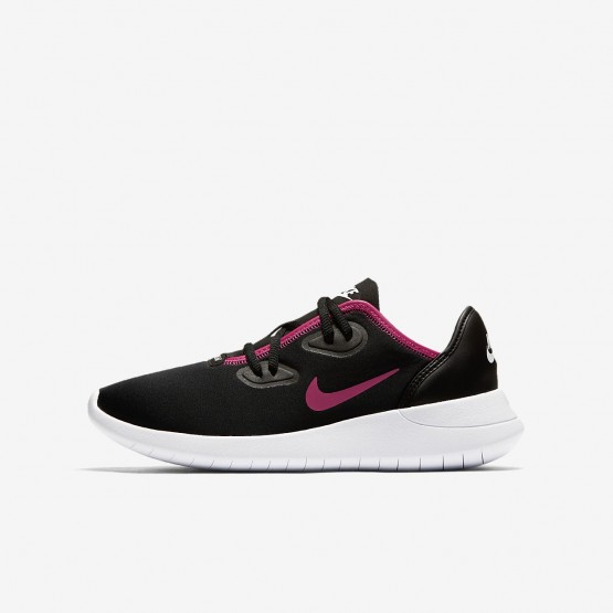 Nike Hakata Lifestyle Shoes Girls Black/White/Pink GT5407BQ