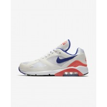 Nike Air Max 180 Lifestyle Shoes Mens White/Red GU6350BP