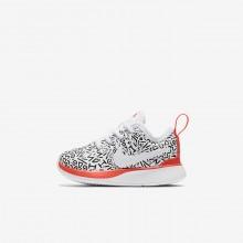 Nike Dualtone Racer Lifestyle Shoes Boys White/Black/Light Red/White HD7548VH