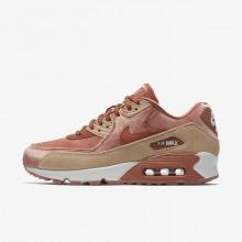 Nike Air Max 90 Lifestyle Shoes Womens Beige/White HD8539QA