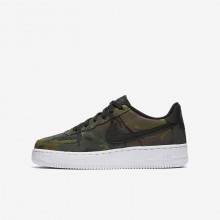 Nike Air Force 1 Lifestyle Shoes Boys Olive/Brown/Black HE9580HA