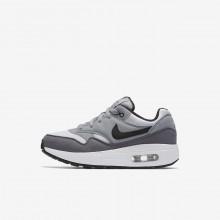 Nike Air Max 1 Lifestyle Shoes Boys White/Grey/Black HI6812ZJ