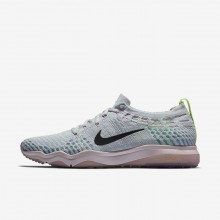 Nike Air Zoom Training Shoes Womens Platinum/Rose/Dark Grey HW4381NS
