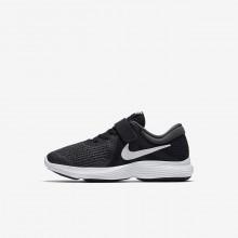 Nike Revolution 4 Running Shoes Girls Black/Dark Grey/White HY8202HN