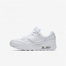 Nike Air Max 1 Lifestyle Shoes Boys White/Metallic Silver/White IM2006TQ