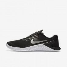 Nike Metcon 4 Training Shoes Womens Black/White/Metallic Silver IV7334BU