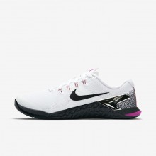 Nike Metcon 4 Training Shoes Womens White/Fuchsia/Orange/Black IX3435JH