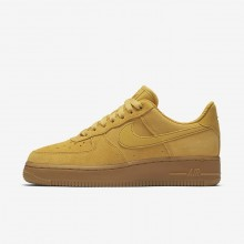 Nike Air Force 1 Lifestyle Shoes Womens Yellow/Light Brown/Gold/Yellow JC8274DB