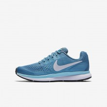 Nike Zoom Running Shoes Girls Light Turquoise/Light Turquoise/Green/White JI1949TY