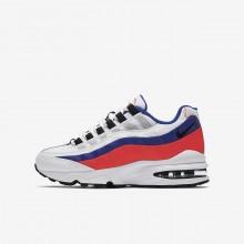 Nike Air Max 95 Lifestyle Shoes Boys White/Red/Black JT2791QS