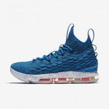 Nike LeBron 15 Basketball Shoes Womens Blue/Orange/White/Blue JY3680XP
