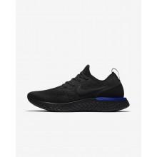 Nike Epic React Flyknit Running Shoes Womens Black/Blue/Black JZ1350KU