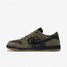 Nike SB Dunk Low Pro Skateboard Shoes Mens Olive/Light Brown/Gold/Black KE6735DK