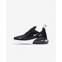 Nike Air Max 270 Lifestyle Shoes Boys Black/Dark Grey/White KF8834UZ