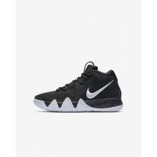 Nike Kyrie 4 Basketball Shoes Boys Black/Dark Grey/Light Blue/White KH1163AB