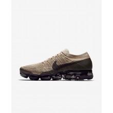 Nike Air VaporMax Flyknit Running Shoes Mens Khaki/Dark Grey/Black KL1206IO