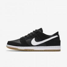 Nike SB Dunk Low Pro Skateboard Shoes Mens Black/Light Brown/White KM3601IN